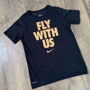 Boys Nike Black and Gold Dri-Fit T-shirt